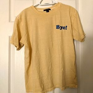 """Forever 21 """"Bye!"""" graphic tee"""